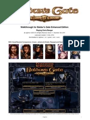 Baldur's Gate Enhanced Edition Walkthrough Cleric/Ranger