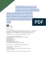 ALGUNAS PORQUE Razones de Outlook Recibe El Error 0x8004010f When Descargan El