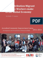 The contribution migrant domestic workers make to the global economy