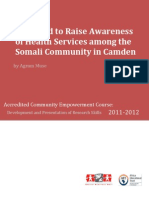 The need to raise awareness of health services among the somali community in camden