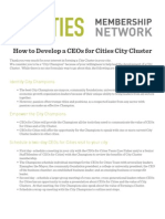 How to Develop a CEOs for Cities City Cluster