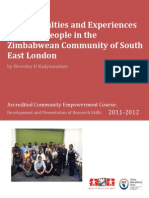 The difficulties and experiences of young people in the Zimbabwean community of South-east London