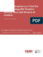 Social enterprise as a tool for regenerating HIV positive African men and women in London