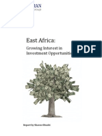 East Africa- Growing Interest in Investment Opportunities