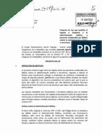 Proyecto de Ley 1427/2012 - Prohíbe el ingreso a la administración pública a condenados por terrorismo o delitos contra la administración pública