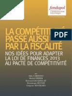 La compétitivité passe aussi par la fiscalité
