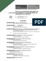 Programa Final Presentación Estrategia y Plan Nacional de Gobierno Electronico