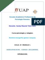 TRABAJO PSICOLOGÍA Y RELIGIÓN UAP