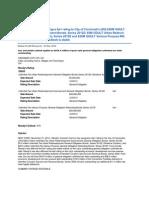 Moody's Report - Cincinnati OH - November 2012