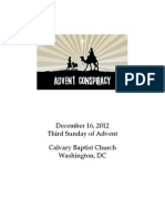 Bulletin for Sunday, December 16, 2012