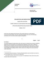 Documento de cierre de la WCIT