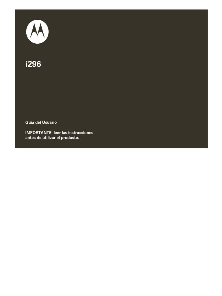 Manual i296