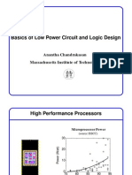 Basics of Low Power Circuit and Logic Design