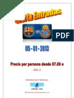 Oferta entradas Barça vs Espanyol