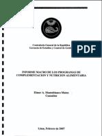 Informe programa complementacion nutricional PRONAA
