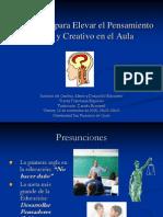 2.1 Actividades para Elevar el Pensamiento Crítico y Creativo en el Aula