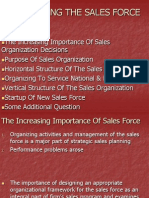 4 - Organizing the Sales Force