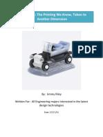 3D Printing Process Paper