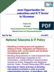 Investment Apportunities of ICT Development in Myanmar (U Ky