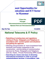 Investment Apportunities of ICT Development in Myanmar (U Ky