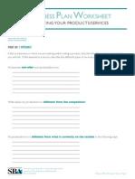 Biz Plan Product Analysis