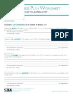 Biz Plan Industry Analysis