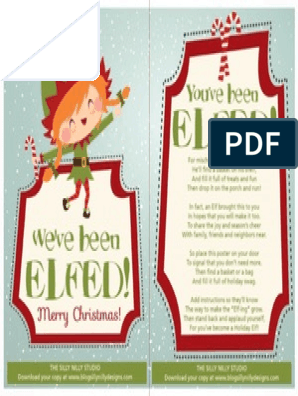 picture relating to You Ve Been Elfed Printable known as The Foolish Nilly Studio Youve Been Elfed