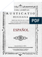 Rusticatio Mexicana de Rafael Landívar (Español)