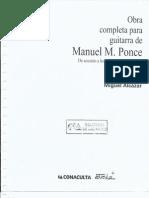 Manuel M. Ponce Obra Completa Para Guitarra Miguel Alcazar.