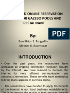 online reservation and billing system thesis