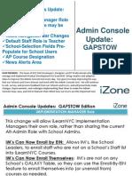 Admin Console December 2012 Upgrade