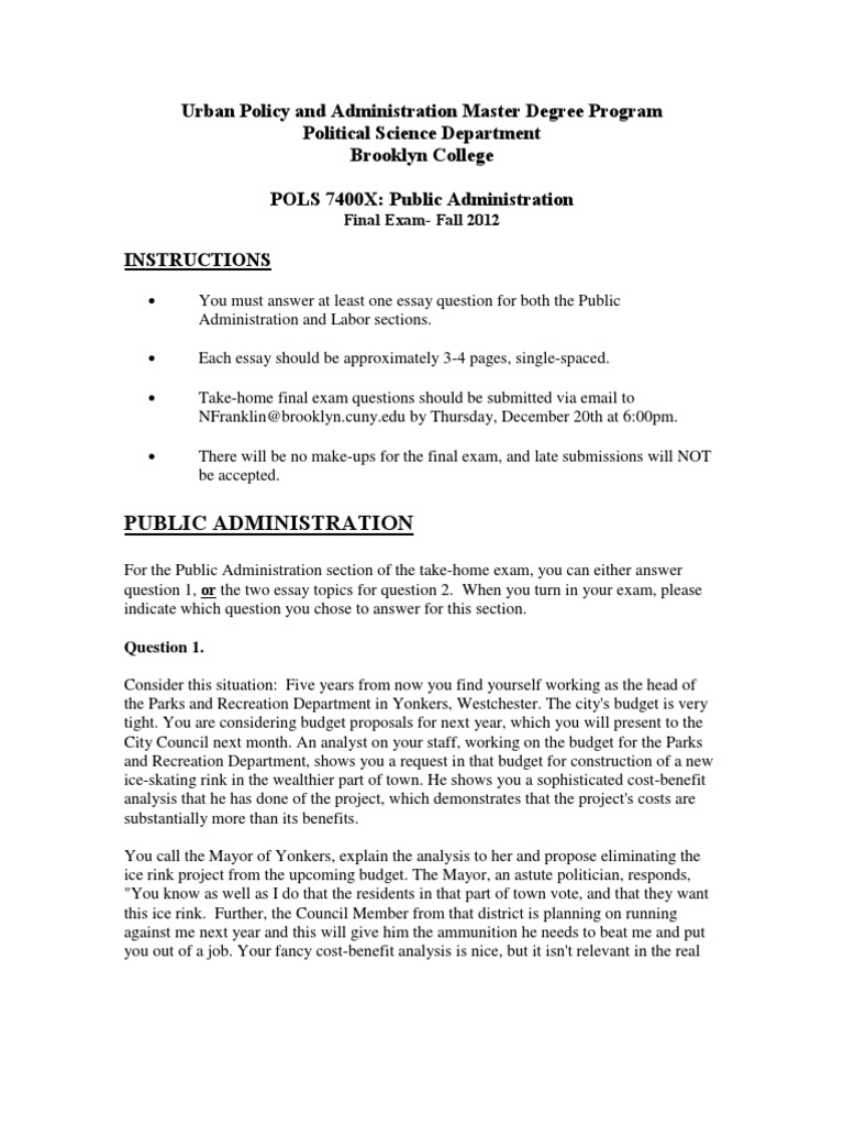 final exam questions pols s public administration public  final exam questions pols 7400s public administration public administration negotiation