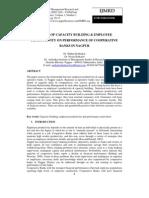 Impact of Capacity Building & Employee