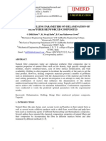 Effects of Drilling Parameters on Delamination Of