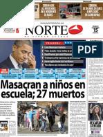 Periodico Norte de Ciudad Juárez 15 de Diciembre de 2012