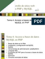 Tema 4 Acceso a Bases de Datos MySQL en PHP