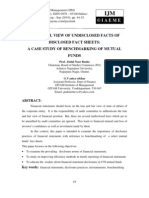 A Critical View of Undisclosed Facts of Disclosed Fact Sheets a Case Study of Benchmarking of Mutual Funds