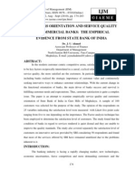 Customers Orientation and Service Quality of Commercial Banks the Empirical Evidence From State Bank of India
