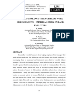 Work Life Balance Through Flexi Work Arrangements Empirical Study on Bank Employees