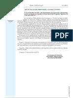 ORDEN de 19 de Noviembre de 2012, Se Resuelve La Convocatoria Del Programa -Apertura de Centros