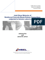 joint shear behavior of reinforced concrete beam-columns connections subjected to seismic load