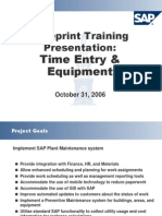 Time Entry and Equipment