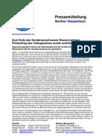 Pressemitteilung vom Berliner Wassertisch vom 14. Dezember 2012