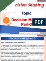 Decision Making Part 3