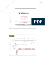 Hydraulics Lesson 9