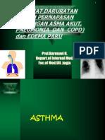 Kuliah 2 Kegawatan Asthma ,Pneumonia Copd,Edema Paru