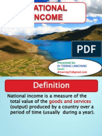 NATIONAL INCOME by  Dr Tsering lamchung.