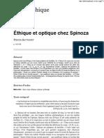 Éthique et optique chez Spinoza