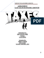 Importance of Tax in Economy