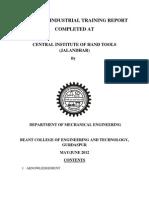 Six Weeks Industrial Training Report